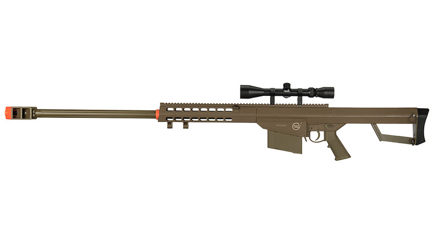 Lancer Tactical Airsoft M82 Spring Rifle w/ Scope (TAN)
