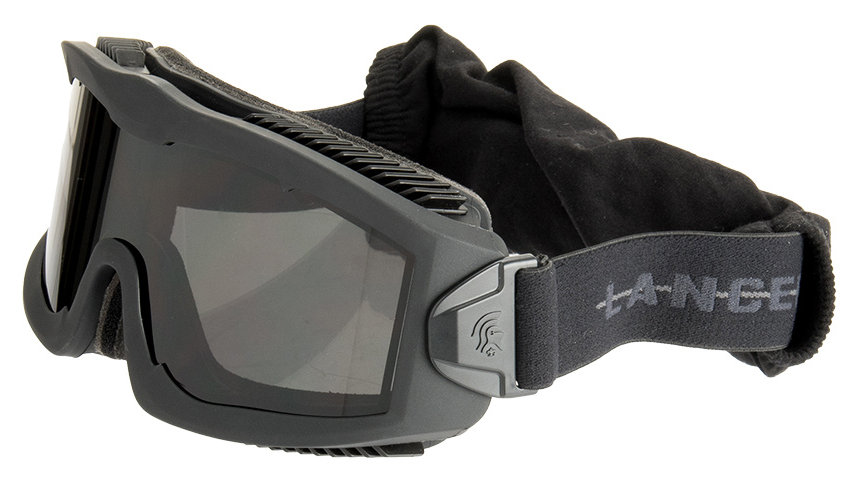 Lancer Tactical AERO Protective Black Goggles (SMOKE/YELLOW/CLEAR LENS)