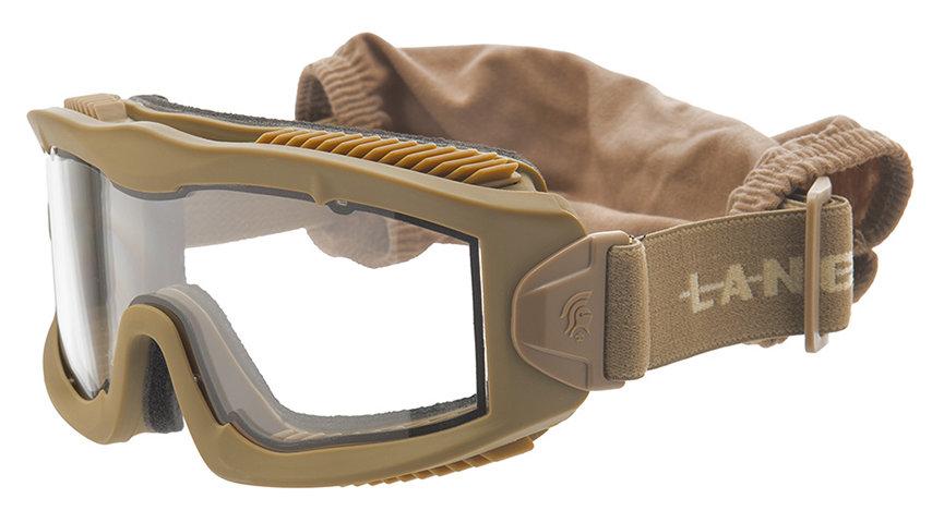Lancer Tactical AERO Protective Tan Goggles (CLEAR LENS)