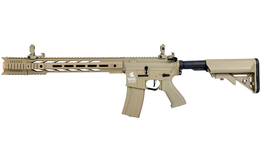 "Lancer Tactical LT-25 Hybrid Gen 2 M4 SPR ""Interceptor"" Airsoft AEG (TAN)"