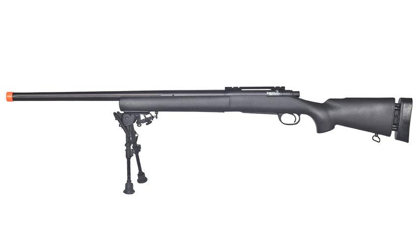 Lancer Tactical Airsoft M24 Bolt Action Sniper Rifle w/ Bipod (BLACK)