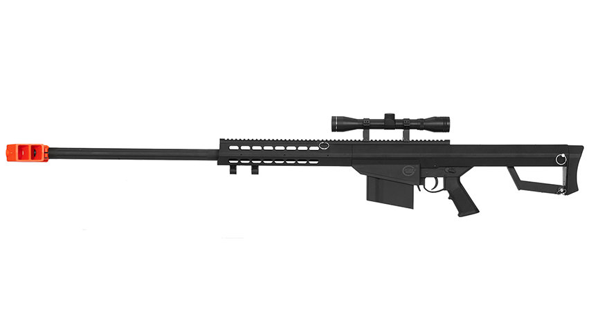 Lancer Tactical Airsoft M82 Spring Rifle w/ Scope (BLACK)