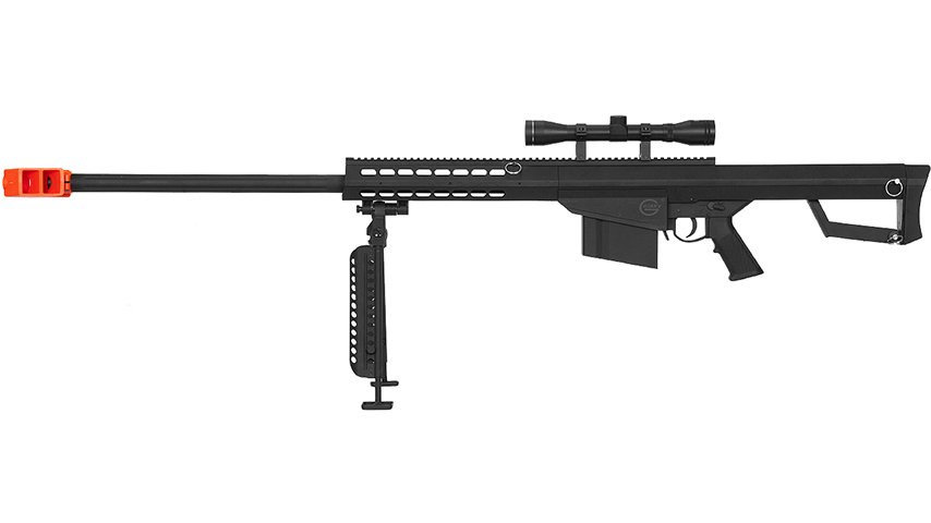Lancer Tactical Airsoft M82 Spring Rifle w/ Scope & Bipod (BLACK)