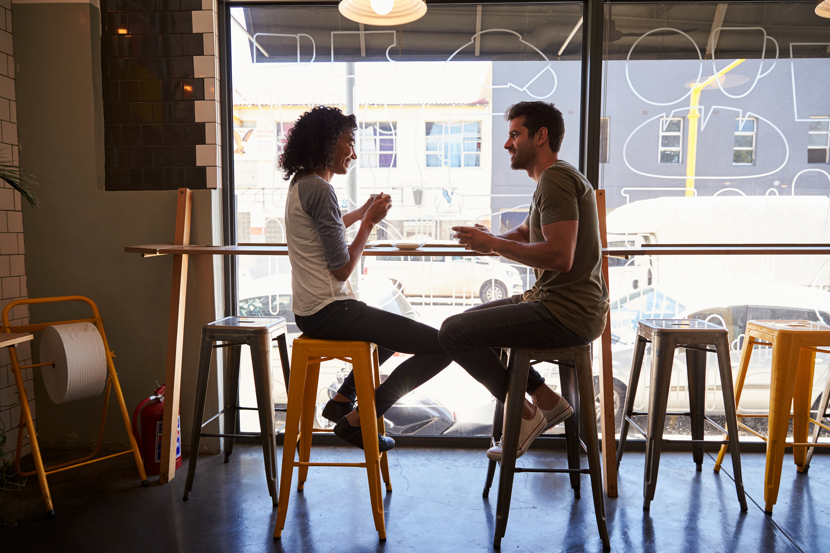 Couple Meeting For Date In Coffee Shop.jpg