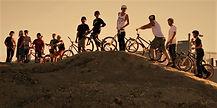 Bmx riders on start hill Watford