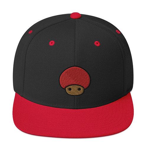 Snapback Hat Mushroom Emblem