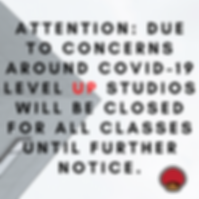 Level Up Studios will be closed for all