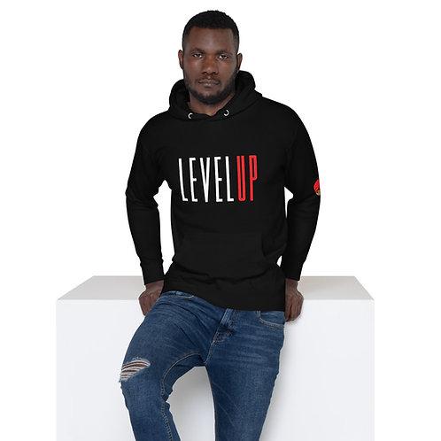 Level Up Logo Unisex Hoodie Black