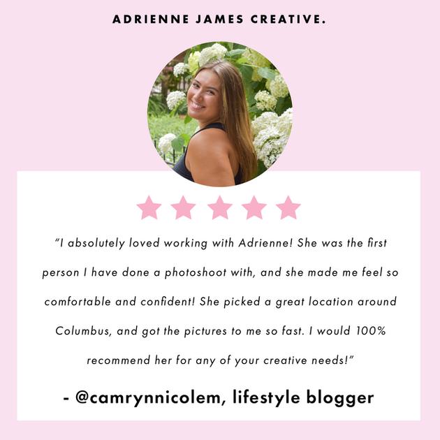Camryn Nicole Blog Testimonial