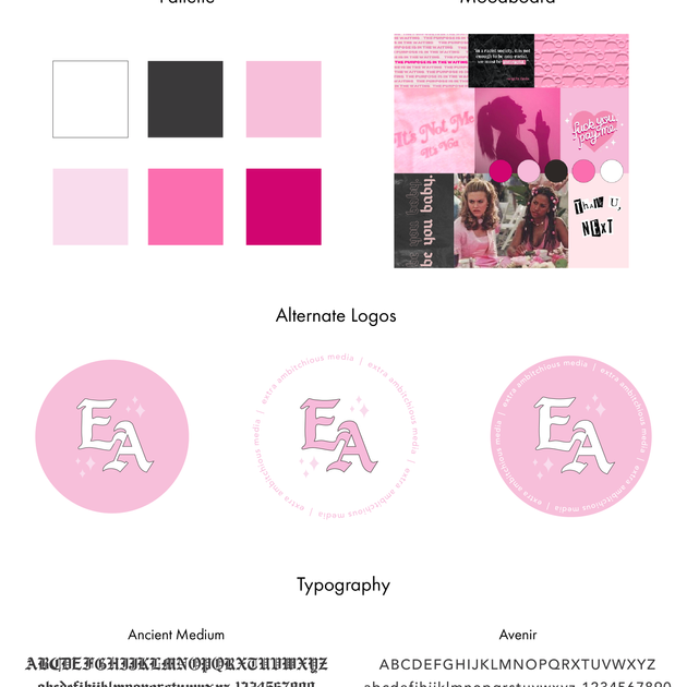 Extra Ambitchious Media Brand Sheet