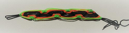 Armband | Grün-Orange-Schwarz
