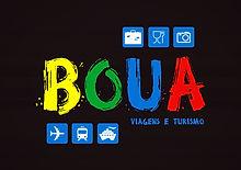 Logomarca Boua Viagens e Turismo - Fundo