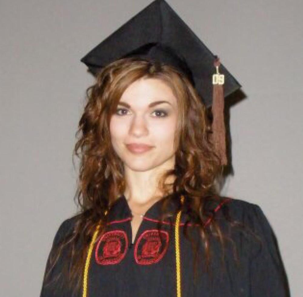 Corinne at her 2010 graduation ceremony