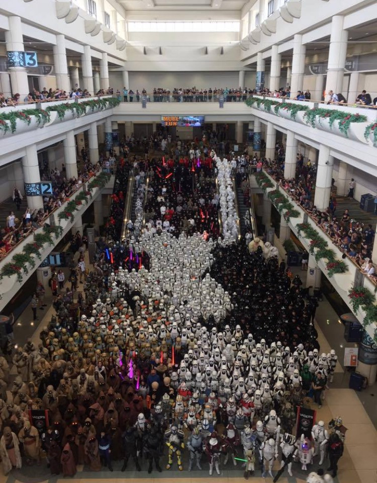 Photo from a 501st gathering at Star Wars Celebration Orlando