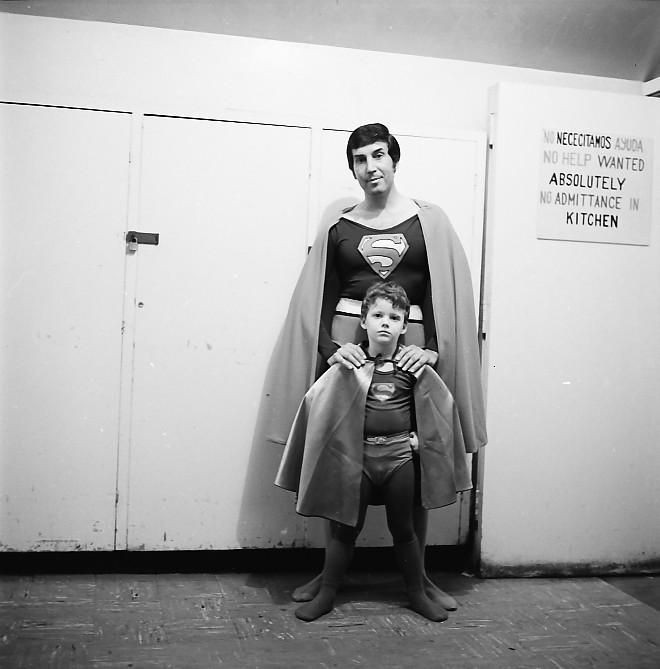 Classic image of Superman cosplay from Comic-Con 1974