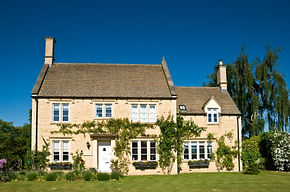 An English country cottage.