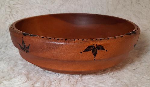 Serving Bowl Leaf Drop Design