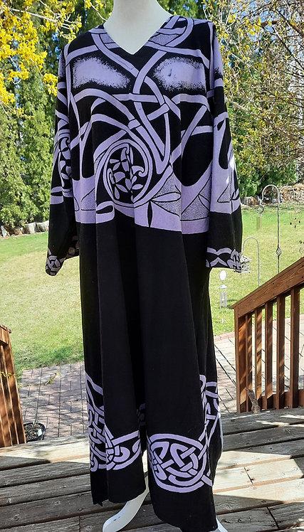 Black & Purple Celtic Knot Robe