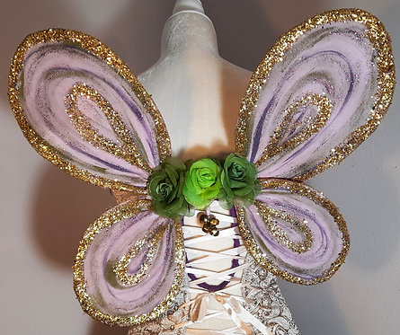 Small Fairy Bodice Wings Lavender, Gold, & Green