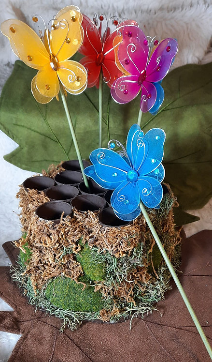 Large Butterfly Sparkle Wand Various Colors
