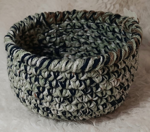 Storage Basket, Navy, Burgundy, Sage Green, Brown