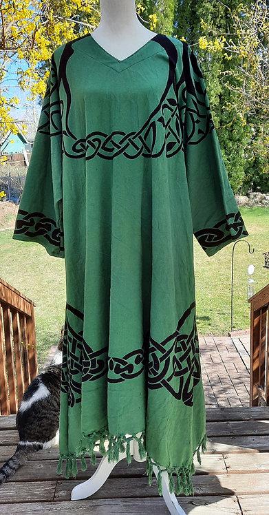 Green & Black Tree of LIfe Celtic Robe