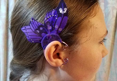 Butterfly Ear Cuff, Purple