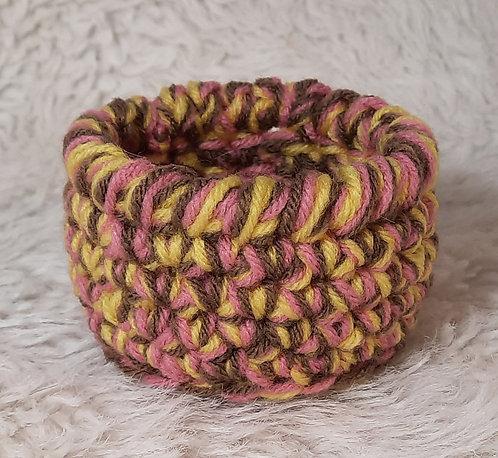 Mini Storage Basket, Pink, Yellow, Brown