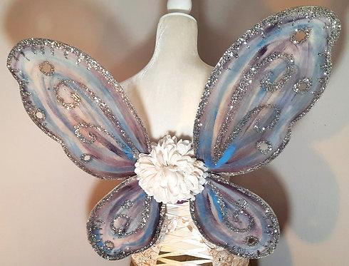 Fairy Bodice Wings, Purple, Blue & Silver