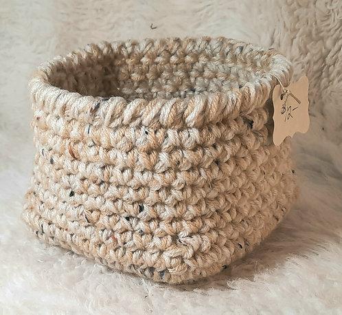 Wide Bottom Storage Basket, Various Colors of Cream