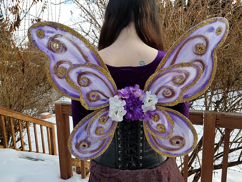 Bodice Fairy Wings, Double, Purple & Bronze