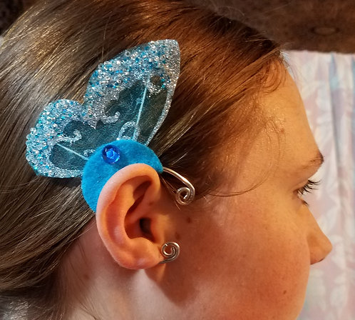 Butterfly Ear Cuff,Turquoise Sparkle