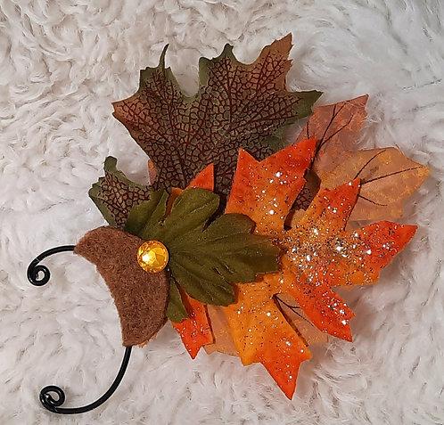 Leaf & Glitter Ear Cuffs, Single