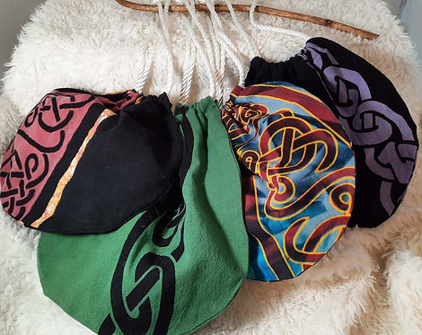 Celtic Print Drawstring Cotton Bag