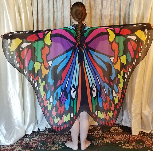 Butterfly Wing Cape Rainbow Monarch