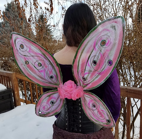 Pink & Green Bodice Wings
