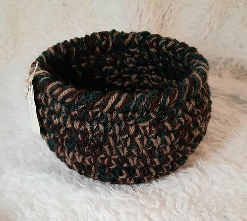 Storage Basket, Tan, Dark Brown, Dark Green