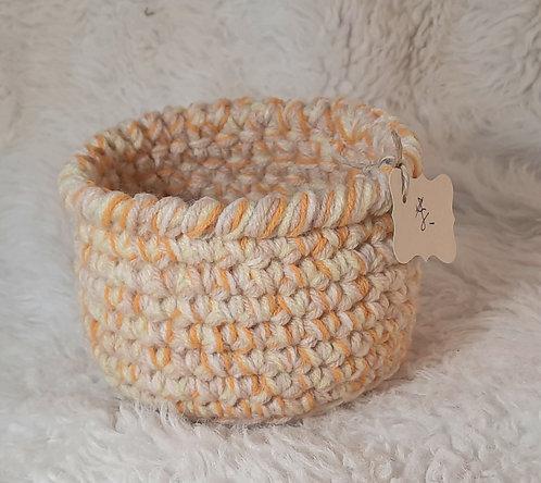 Storage Basket, Cream, Tan, Goldenrod