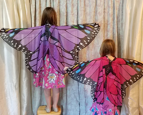 Child's Butterfly Wing Cape, Various Colors