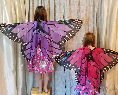 Child's Butterfly Wing Cape, 4 Colors