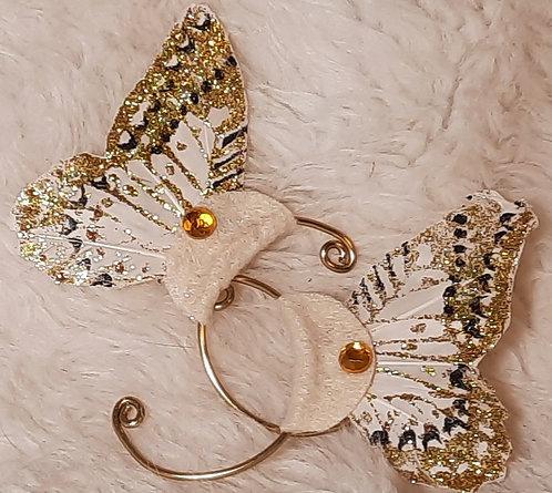 Glitter Dust Butterfly Ear Cuffs Colors, 1 Pair