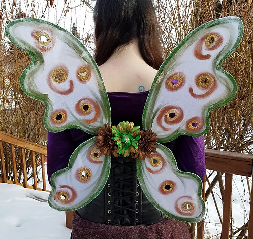 Bodice Fairy Wings, Copper and Green