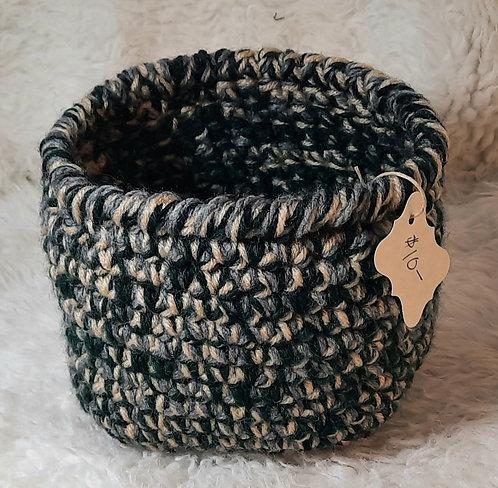 Soft-Side Storage Basket, Cream, Gray, Black