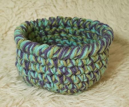 Small Storage Basket, Aqua, Purple, Spring Green