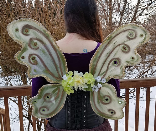 Olive Green & Bronze Bodice Wings