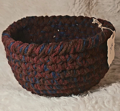 Storage Basket, Burgundy, Brown, Dark Green