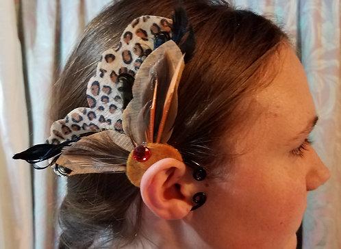 Butterfly Ear Cuff, Leopard & Feather
