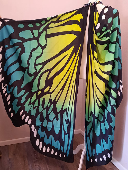 Split Wing Butterfly Cape Various Colors