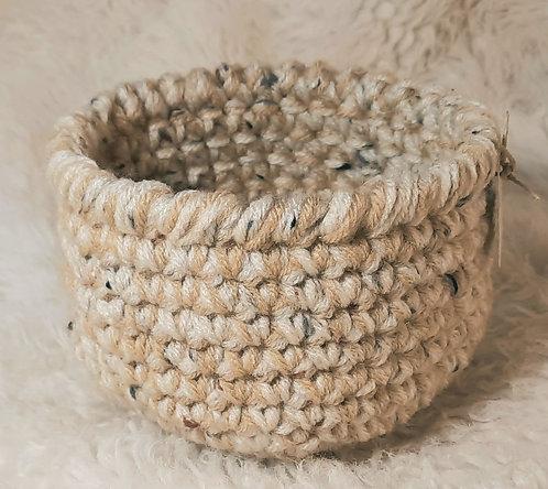 Storage Basket,  Cream, Tan with Flecks