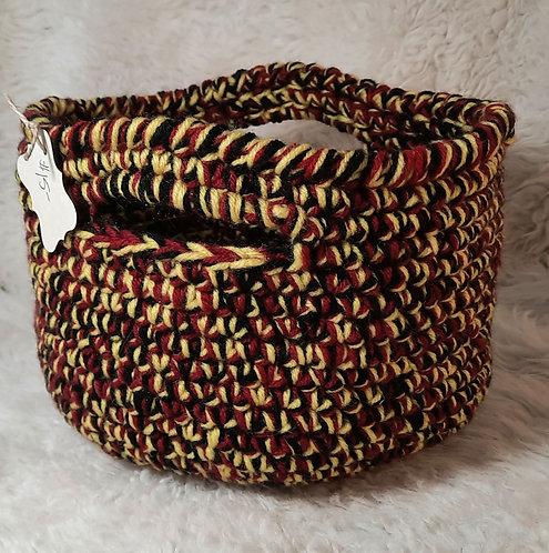 Storage Basket with Handles, Black, Dark Red, Butter
